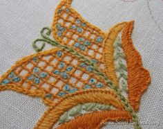Crewel Embroidery Kit AUTUMN GOLD by AnnaScottEmbroidery on Etsy