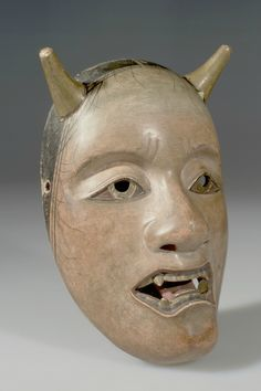 Noh Drama Mask, Demon. Japan. Wood, lacquer, pigment, and gilt. Asian Ethnographic Collection, American Museum of Natural History, 70.0/ 3590.