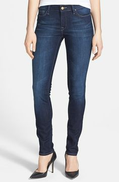 Mavi Jeans 'Adriana' Skinny Jeans (Deep Nolita) available at #Nordstrom