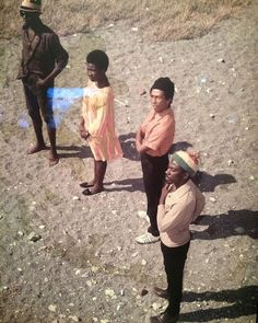 **The Wailers** & Rita Marley, Plumb Point Lighthouse, Port Royal, Palisadoes Peninsula, Jamaica, 1968. ►►More fantastic pictures, music and videos of *The Wailing Wailers/The Wailers→'74/Bob Marley&The Wailers & Robert Nesta Bob Marley* on: https://de.pinterest.com/ReggaeHeart/ ©Astley Chin/ https://www.urbanimage.tv #BobMarley #Wailers #TodayInBobsLife #RobertNestaMarley #BobMarleyQuotes #ReggaeHeart