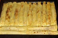 Zapečene palačinke sa sirom (Croatian cheese crepes) Albanian Recipes, Bosnian Recipes, Croatian Recipes, Albanian Food, Serbian Food, Croatian Cuisine, Breakfast Recipes, Dessert Recipes, Desserts