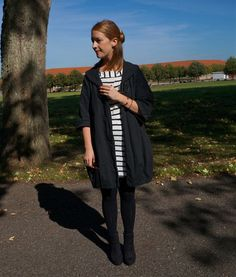 Striped dress. See more here: http://www.kathrinerostrup.dk/2013/09/oldie-but-goodie/