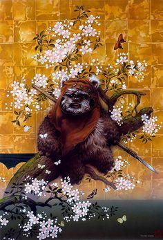 息を飲むほど美しい!ルーカスフィルム公認、日本画風のスターウォーズアート