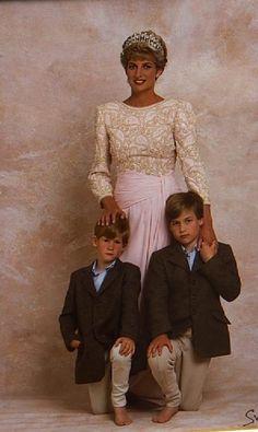 Princess Diana, Prince William and Prince Harry