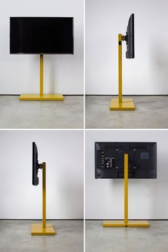 QUARTER design studio + EngineHouse | TV Stand – freestanding steel tv pedestal
