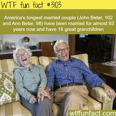 Longest married couple in America -  WTF fun facts http://ibeebz.com