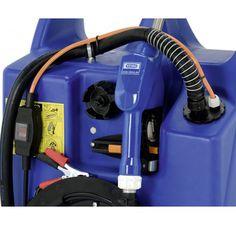 Mobilny Zbiornik Przewoźny na Paliwo AdBlue 100l + Pompa 12V, Wąż 3,4m, Przewód Elektryczny 4m, Pistolet Automatyczny Wózek Transportowy Handy Tank Swimer