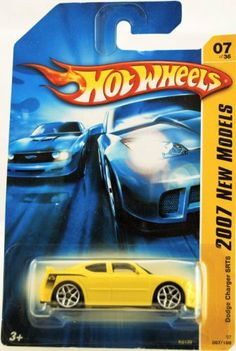 Hot Wheels - 2007 New Models - 07/36 - Dodge Charger SRT8 - Yellow - Limited Edition - Collectible by Mattel. $5.99.  Someone please buy me this!