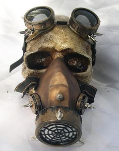 Steampunk Men Women Retro Haze Masks Classic Gothic Halloween Cosplay Googles Gas Masks Anti-frogging Customized Mask