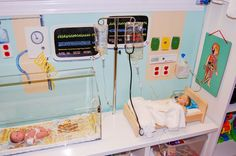 Medical play: Having play props that are relevant to the child will help with familiarity, allowing them to play out their medical experiences. Provides and opportunity for a CCLS to assess a child's coping and understanding.