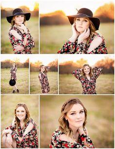 Shelby | Senior 2017 | Northwest High School senior, pictures, portraits, photos, photography, spring, romper, hat, sunset, poses, posing, girls, high school, fort worth, texas, tx www.kyleeswisherphotography.com