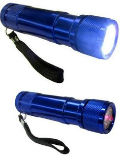 8ed and laser pointer flashlight,  inlcudes 3 AAA batteries