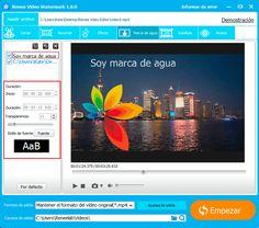 ¡Sin duda que Renee Video Editor es el mejor software gratuito de añadir marca de agua a su propio vídeo que puede encontrar en internet!  http://www.reneelab.es/siganos-a-anadir-marca-de-agua-gratis.html