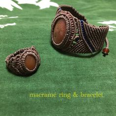 macramé ring & bracelet