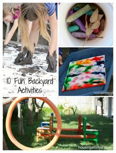 10 Fun Backyard Activities ~ perfect for keeping the kids busy this summer