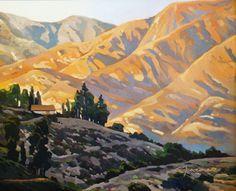 """Lynne Fearman """"Top of Lida View"""" 16x20 Oil on Board"""