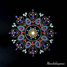 Dot Art Painting, Mandala Painting, Painting Patterns, Stone Painting, Acrylic Painting Tutorials, Mandala Painted Rocks, Mandala Rocks, Mandala Pattern, Mandala Design
