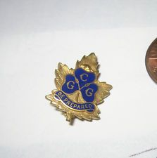 Vintage Canada Girl Guides Scout BE PREPARED LEAF Pin BADGE