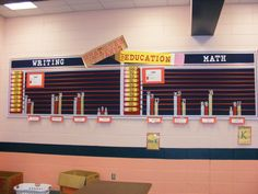 Neat way to organize and display student data!