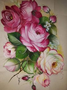 Oil Painting Flowers, Tole Painting, Fabric Painting, Painting On Wood, Painting Corner, Creative Flower Arrangements, Decoupage Art, Pencil Art Drawings, Arte Floral