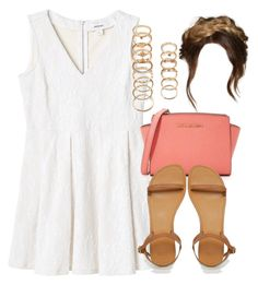 """""""Style #10139"""" by vany-alvarado ❤ liked on Polyvore featuring Monki, MICHAEL Michael Kors, ASOS and Forever 21"""