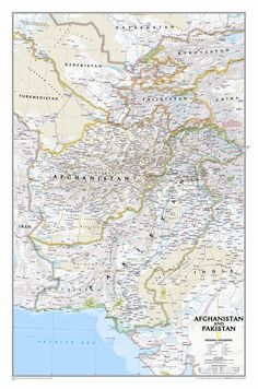 Afghanistan / Pakistan Wall Map