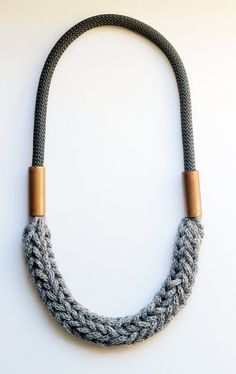 Copper dark gray rope & light gray braided wool 04.1 by myLifebox