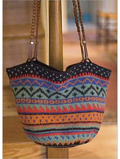 Ravelry: Felted Fair Isle Bag pattern by Pam Allen