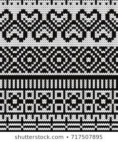 Knitted seamless pattern hearts and fair isle elements Fair Isle Knitting Patterns, Knitting Charts, Stitch Patterns, Crochet Patterns, Aztec Patterns, Bead Crochet Rope, Loom Weaving, Cross Stitching, Abstract