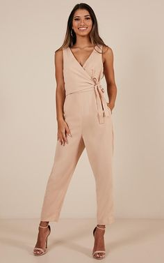 8c5002caad6 We re obsessing over the Let It Happen jumpsuit in blush! This jumpsuit  features