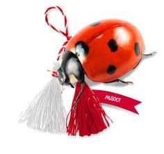 Pijo and Penda with ladybug.