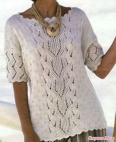 Дневник paparde : LiveInternet - Российский Сервис ОнРCrochet Woman, Crochet Lace, Knitting Patterns Free, Knit Patterns, Summer Knitting, Knit Fashion, Crochet Clothes, Knitwear, Creations