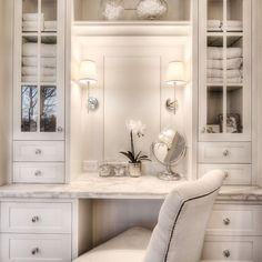 veranda interiors: Our Home {Master Bathroom} Bad Inspiration, Bathroom Inspiration, Veranda Interiors, Deco Interiors, Built In Vanity, Home Interior, Interior Design, Kitchen Interior, Closet Vanity