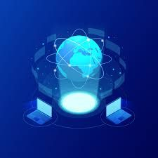 global communication internet network around the planet. network and data exchange over planet. connected satellites for finance cryptocurrency or iot technology