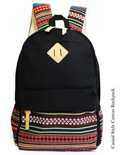 f1efd036e307 IBSound Casual Style Lightweight Canvas Laptop Backpack - Fashion Cute  Travel School College Shoulder Bag