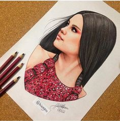 Selena gomez drawing | Decor | Selena gomez drawing, Art ...