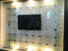 for LED wall decor Mirror Tiles, Wall Tiles, Flower Prints, New Art, Stained Glass, Wall Decor, Led, Glasses, Room Tiles