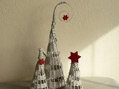 Fotopostup na papierové pletenie - pletený stromček I. - foto postup