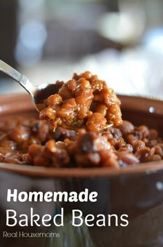These homemade baked beans from scratch are so easy to make and have great flavor with the brown sugar, molasses and bacon. Your friends and family will think you're a superstar with this one. Homemade Baked Beans, Baked Bean Recipes, Baked Beans Crock Pot, Beans Recipes, Vegetable Side Dishes, Vegetable Recipes, Baked Beans From Scratch, Great Recipes, Favorite Recipes
