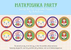 ~Matroesjka cup cake toppers om zelf uit te printen~