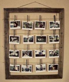 Rustic DIY Photo Display Frame | DIY Cozy Home by iulian.torjo
