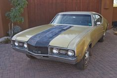 1968 Olds(HurstBuilt) FWD 442, 455ci/375hp/510lbsTorque 4bbl HiCompression V8, TH425 3sp Auto/3.54 TransAxle(pre-restoration)