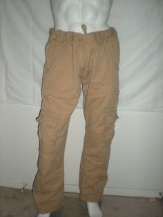 428af17e69f947 Jordan Craig Cargo Pants Khaki 40x32 needs button  fashion  clothing  shoes   accessories