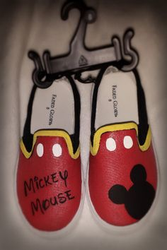 Disney Mickey Mouse Hand Painted Shoes by KDawnsKreations on Etsy, $20.00