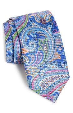 David Donahue Woven Silk Tie.