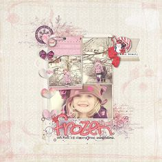 adorable #winter #scrapbook page by Kayleigh at DesignerDigitals.com