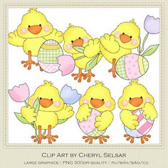 NEW Little Chicks Easter Clipart by Cheryl Seslar by marlodeedesigns, $1.25