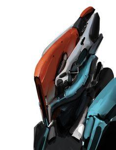 Bot Face 1 by Robotpencil on deviantART Alien Concept, Concept Art, Character Concept, Character Design, Character Reference, Anthony Jones, Alien Artifacts, Robot Design, Helmet Design
