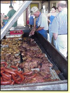 Now that's a Texas size BBQ pit