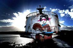The DuDug Project Transformed Steam Ship Into a Masterpiece #streetart #graffiti trendhunter.com